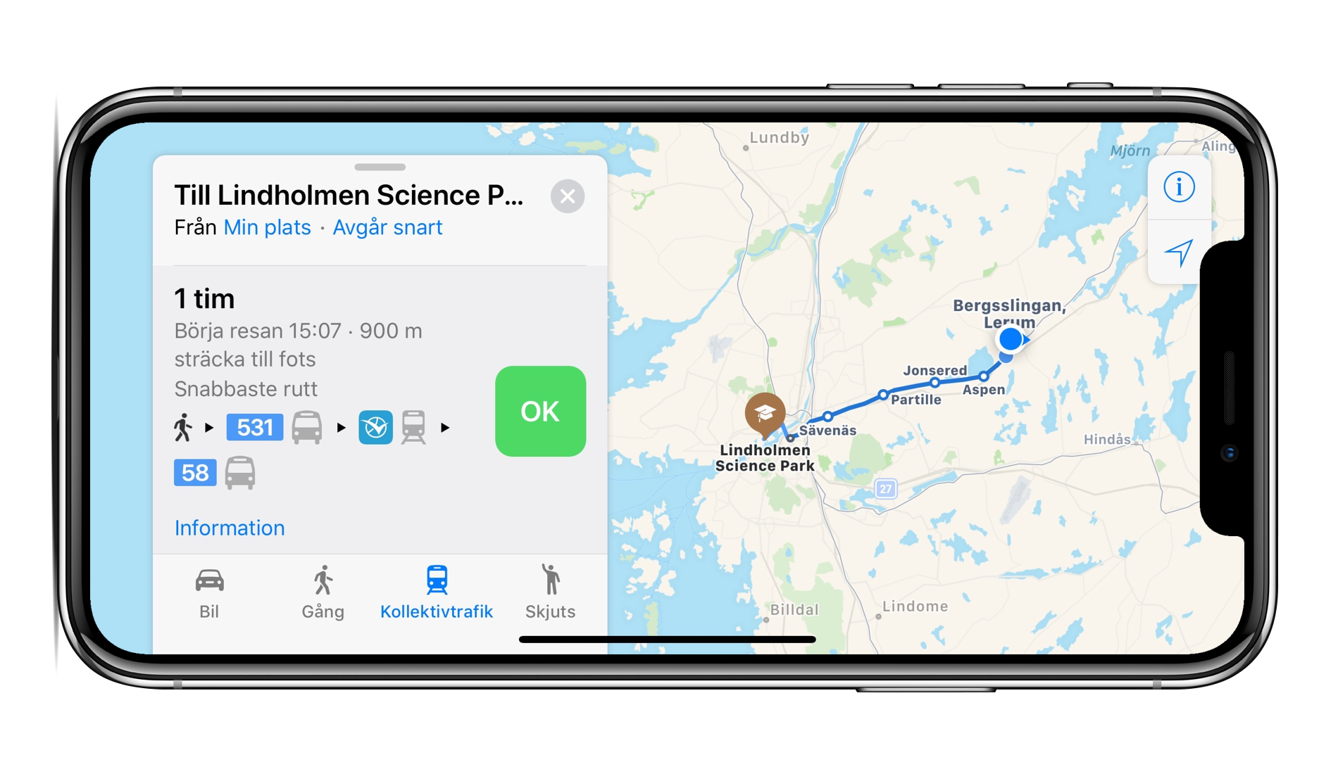 Apple Maps now includes Transit Directions for Denmark, Sweden, Norway, and Finland